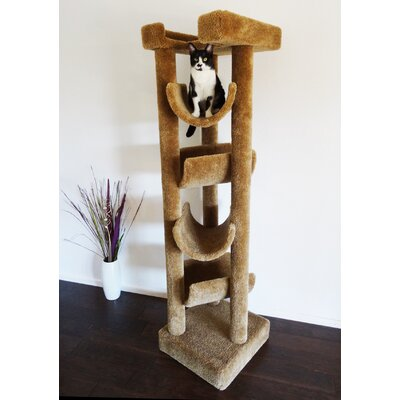 72 Premier Cat Tree Color: Brown