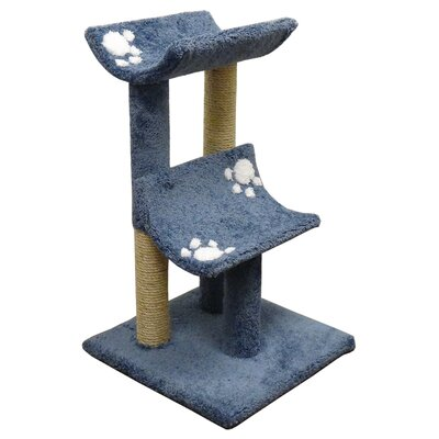 33 Premier Double Cat Perch Color: Blue