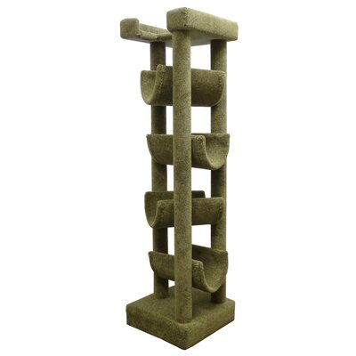 72 Premier Cat Tree Color: Green