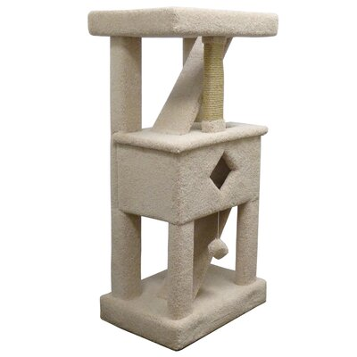 58 Premier Solid Wood Cat Play Gym Color: Beige