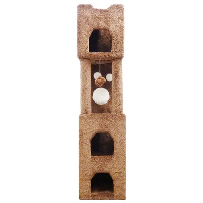 71 Premier Cat Tree Color: Brown