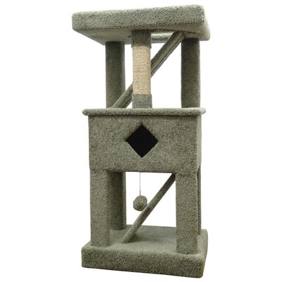 58 Premier Solid Wood Cat Play Gym Color: Green