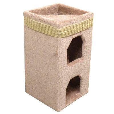 31 Premier Double Cat Condo Color: Beige
