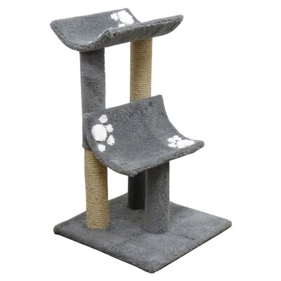 33 Premier Double Cat Perch Color: Gray