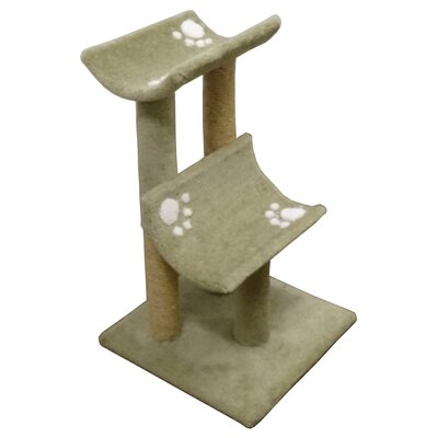33 Premier Double Cat Perch Color: Green