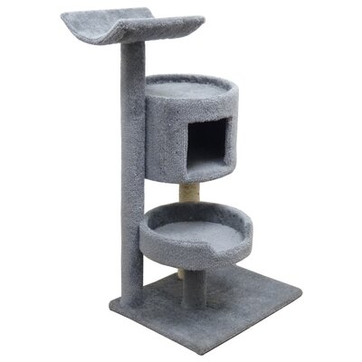 45 Premier Bungalow Cat Tree Color: Gray