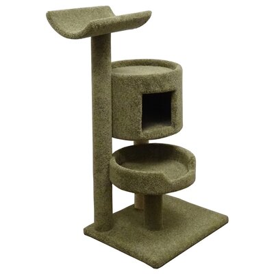 45 Premier Bungalow Cat Tree Color: Green