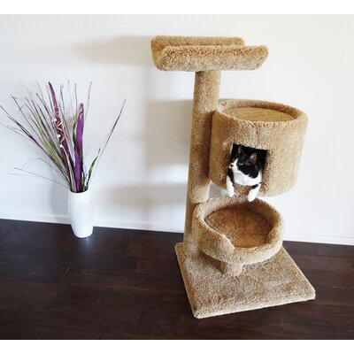 45 Premier Bungalow Cat Tree Color: Brown