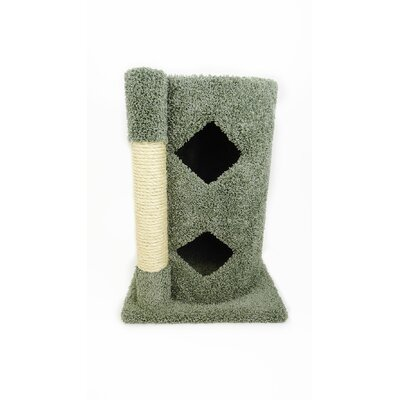 28 Premier 2-Story Solid Wood Cat Condo Color: Green