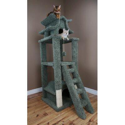 67 Premier Designer Cat Tree Color: Green