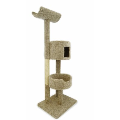 67 Deluxe Cat Tree Color: Beige