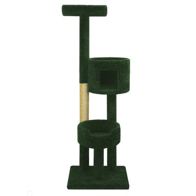67 Deluxe Cat Tree Color: Green