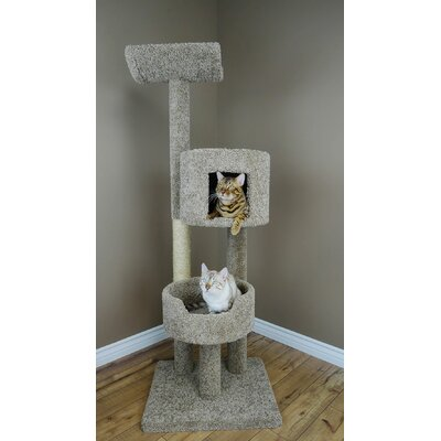 67 Deluxe Cat Tree Color: Grey
