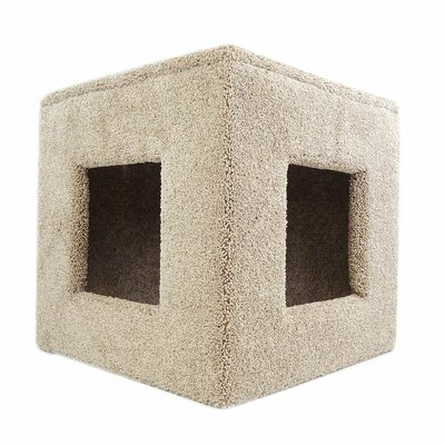 "20"" Premier Pet Hiding Cube Cat Condo Color: Brown 110021-Brown"
