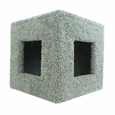 20 Premier Pet Hiding Cube Cat Condo Color: Green