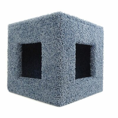 20 Premier Pet Hiding Cube Cat Condo Color: Blue