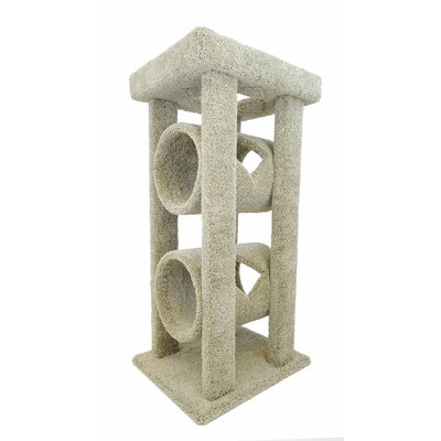 48 Cat Tree Color: Brown