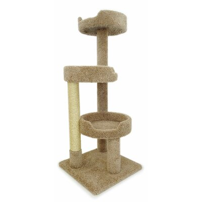 50 Premier Kitty Pad Cat Tree Color: Brown