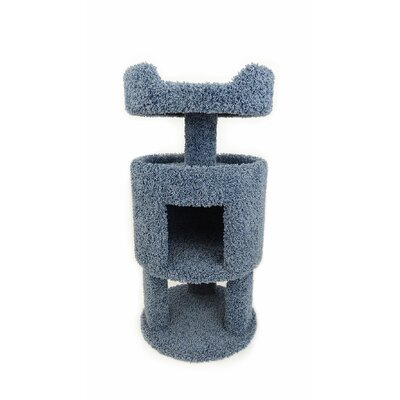 32 Premier Contemporary Cat Condo Color: Blue