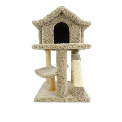 32 Premier Mini Pagoda Cat Condo Color: Brown