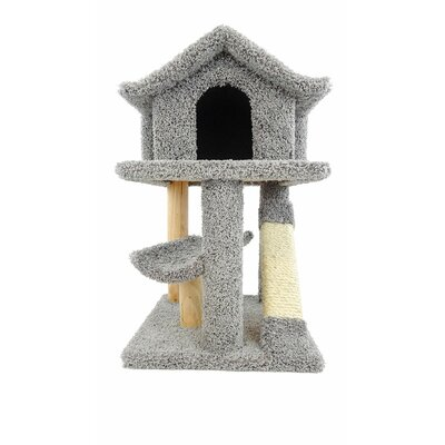 32 Premier Mini Pagoda Cat Condo Color: Gray