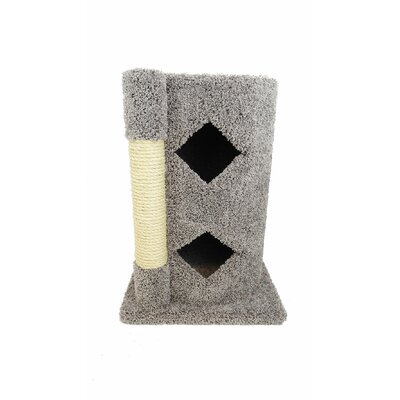 28 Premier 2-Story Solid Wood Cat Condo Color: Gray