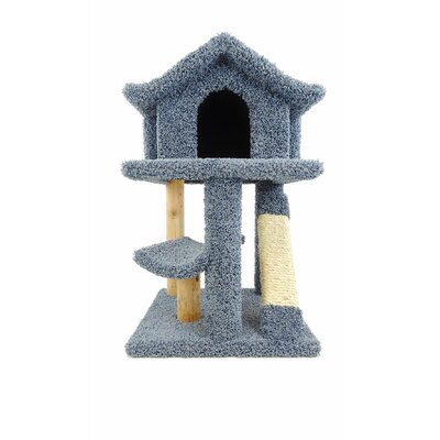 32 Premier Mini Pagoda Cat Condo Color: Blue