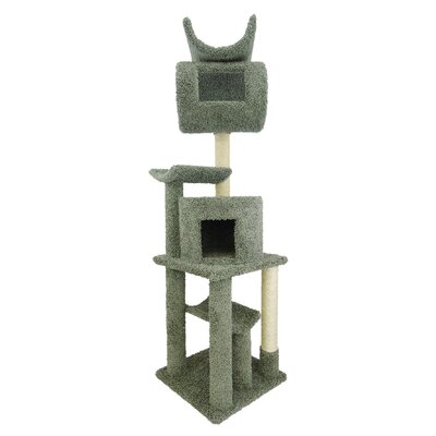 72 Premier Playstation Cat Tree Color: Green