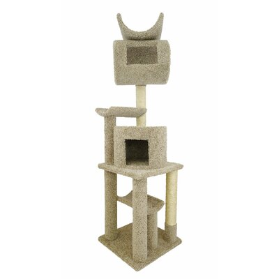 72 Premier Playstation Cat Tree Color: Beige