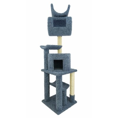 72 Premier Playstation Cat Tree Color: Blue