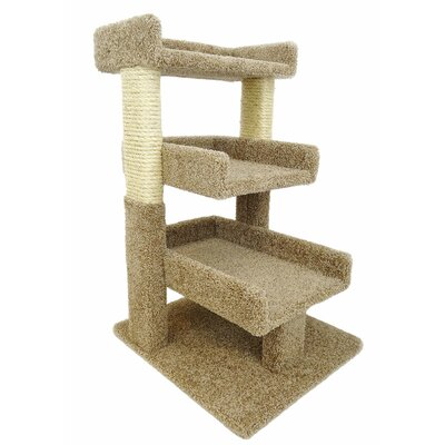 32 Premier Triple Cat Perch Color: Brown