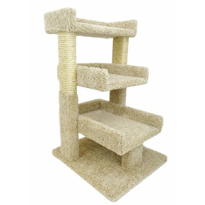 32 Premier Triple Cat Perch Color: Beige