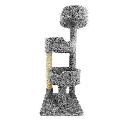 52 Deluxe Cat Tree Color: Gray