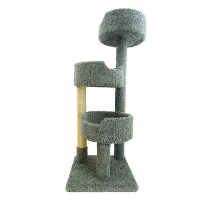 52 Deluxe Cat Tree Color: Green
