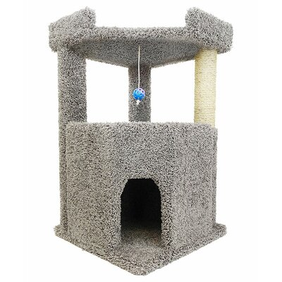 34 Premier Corner Roost Cat Tree Color: Gray