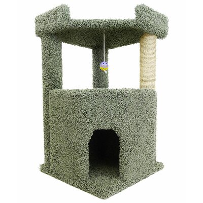34 Premier Corner Roost Cat Tree Color: Green