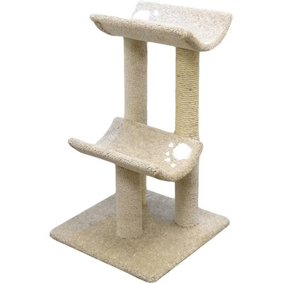 33 Premier Double Cat Perch Color: Beige