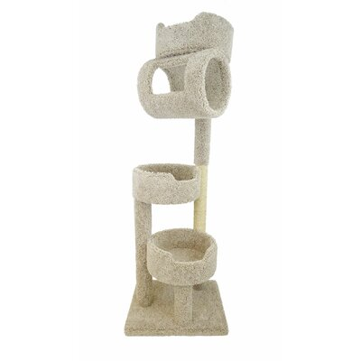 67 Premier Twin Tower Cat Tree Color: Beige