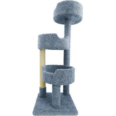 52 Deluxe Cat Tree Color: Blue