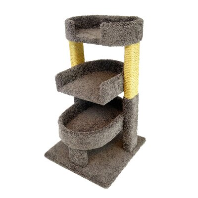 New Cat Condos Round 33 Triple Cat Perch Color: Gray
