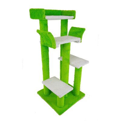 46 Unique Colorful Cat Condo Color: Lime Green
