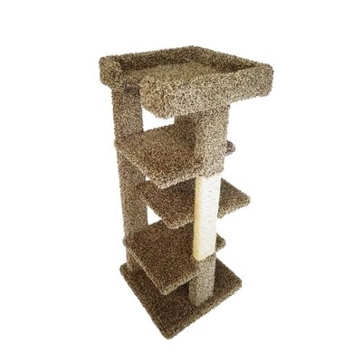 46 New 4 Level Cat Condo Color: Brown