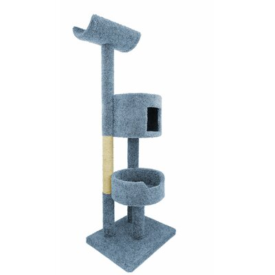 67 Deluxe Cat Tree Color: Blue