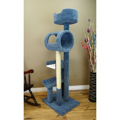 69 Deluxe Play Cat Condo Color: Blue
