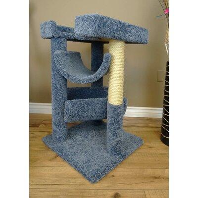 33 Premier Cat Scratching Tree Color: Blue