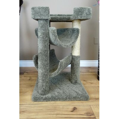 33 Premier Cat Scratching Tree Color: Green