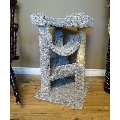 33 Premier Cat Scratching Tree Color: Gray