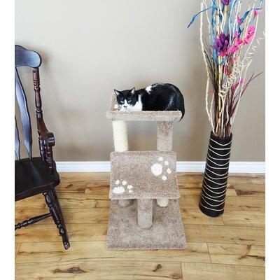 33 Premier Double Cat Perch Color: Brown