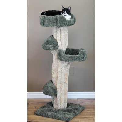 51 Premier Cat Tree Color: Brown/Green