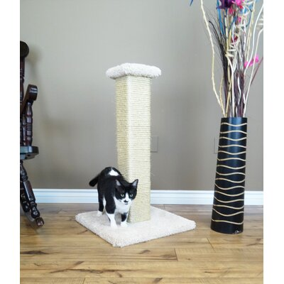 33 Ultimate Full Sisal Cat Scratching Post Color: Beige